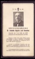 1955 Pagela Memoria ARMANDO AUGUSTO LEAL GONSALVES Medico COIMBRA. Mourning Card W/Real Photo Portugal
