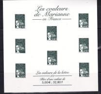 FRANCE ESSAI LES COULEURS DE MARIANNE VERT NEUF - 1997-04 Marianne Of July 14th