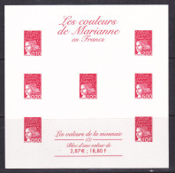 FRANCE ESSAI LES COULEURS DE MARIANNE ROUGE NEUF - 1997-04 Marianne Of July 14th