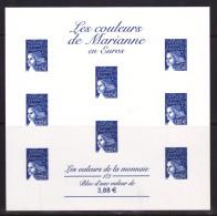 FRANCE ESSAI LES COULEURS DE MARIANNE BLEU VALEUR EN EUROS NEUF - 1997-04 Marianne Of July 14th