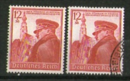 DR 1939: 12+38 (pf) 50. Geburtstag Hitler (ungebraucht Und Gestempelt), Siehe Scan; Michel-Nr. 691   O Und * - Germania