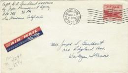 USA 1952 APO 343 Japan Corea War Military Airmail Cover - Luchtpost
