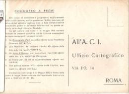 ROMA .A.C.I.  UFFICIO CARTOGRAFICO CONCORSO A PREMI. .VIAGGIATA NO. 1950-E69 - Roma