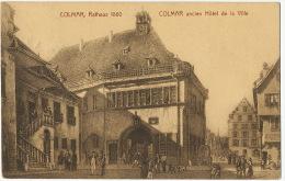 Colmar Rathaus 1860  Cachet Train Strasbourg A Basel Bahnpost - Colmar