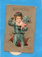 Carte à Système-jeune Garçon En Costume De Marin Pouvant  Saluer-édition Servus-a Voyagé En 1910 - A Systèmes