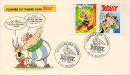 FDC - Journée Du Timbre Du 06-03-1999, Timbre Astérix (Le Bugue En Dordogne-Périgord) - 1990-1999