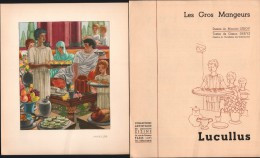 Gravure Les Gros Mangeurs - LUCULLUS - Dessins De M. LEROY - Laboratoires ZIZINE - Prenten & Gravure