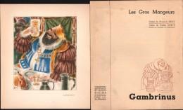 Gravure Les Gros Mangeurs - GAMBRINUS - Dessins De M. LEROY - Laboratoires ZIZINE - Prenten & Gravure