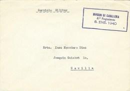 Spain 1940 Madrid Cavalry Division 3rd Regiment Military Unit Unfranked Cover - Franquicia Militar