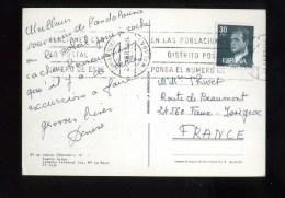 - ESPAGNE 1981/90 . AFFRANCHISSEMENT SIMPLE SUR CP DE 1984 POUR LA FRANCE . - 1931-Hoy: 2ª República - ... Juan Carlos I