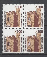 BUND - Mi-Nr. 1348 Viererblock Hambacher Schloss Postfrisch - BRD