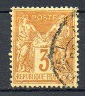 FRANCE - 1878 - Type Sage (Type II - N Sous U) - N° 86 - 3 C. Bistre-jaune - (Cachet à Date Avec Mention Imprimés) - 1876-1898 Sage (Type II)
