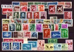 BULGARIA \ BULGARIE - 1958 - Anne Complete ** - Yvert 908A / 952 Dent. Et PA 74 + 74 A Non Dent. - Années Complètes