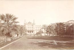 """MONACO -- MONTE CARLO  --  PHOTO RARE  - CASINO De MONTE CARLO """" Aux 2 Horloges """"  Circa 1890 - Antiche (ante 1900)"""