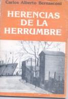 HERENCIAS DE LA HERRUMBRE - CARLOS ALBERTO BERNASCONI - AÑO 1983 109 PAGINAS AUTOGRAFIADO DEDICADO - Poetry