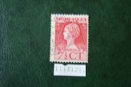 Regeringsjubileumzegel 7 1/2 Ct NVPH 123H 123 H (Mi 125) 1923 Gestempeld / USED NEDERLAND / NIEDERLANDE - Period 1891-1948 (Wilhelmina)