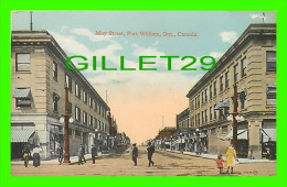 FORT WILLIAM, ONTARIO - MAY STREET, LOOKING NORTH - ANIMATED - SACKETT & WILHELMS CORP - THE VALENTINE & SONS PUB - - Ontario