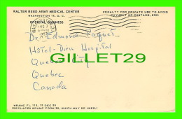 SANTÉ - WALTER REED ARMY MEDICAL CENTER, WASHINGTON D.C. - PNEUMATIC MANIFESTATIONS - TRAVEL IN 1957 - Santé