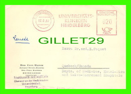 SANTÉ - DR ADOLF LINKE, HEIDELBERG, GERMANY - RHEUMATIC MANIFESTATIONS HODGKIN´S DISEASE - TRAVEL IN 1957 - - Santé