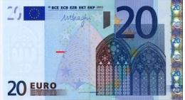 EURO ESTONIA 20 D DRAGHI R028 UNC - EURO