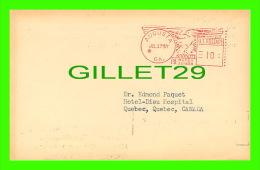 SANTÉ - DR. EDMOND PAQUET, HOTEL-DIEU QUÉBEC - CLAUDE-STARR WRIGHT, AUGUSTA GEORGIA - RHEUMATIC - TRAVEL 1957 - - Santé