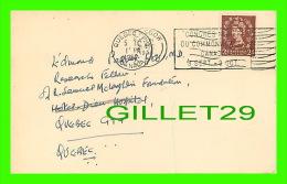 SANTÉ - DR. EDMOND PAQUET, HOTEL-DIEU QUÉBEC - THE MUIRHEAD DEPT,OF MEDECINE, GLASGOW - RHEUMATIC - TRAVEL 1957 - - Santé