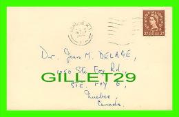 SANTÉ - DR. JEAN M. DELAGE, STE FOY,QUÉBEC - INSTITUTE ORTHOPAEDICS LONDON W. I. - TRAVEL 1957 - RHEUMATIC - - Santé