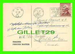 SANTÉ - DR. EDMOND PAQUET,QUÉBEC - MUDr VOJTECH PETERA, PLZEN CZEC - TRAVEL 1957 - RHEUMATIC - - Santé