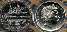 AUSTRALIA 50 CENTS WWI ARMY SHIP BATTLE OF COCOS FRONT QEII HEAD 2014 UNC YEAR NOT RELEASED READ DESCRIPTION CAREFULLY!! - Sin Clasificación