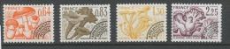Préoblitérés N°158-161 Série Champignons 1979 4 Valeurs ZP158A - Préoblitérés