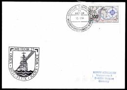 """ARCTIC,GERMANY,FS""""METEOR"""", 15.1.1994,Exped.  No. 27 , Cachet + Ships Marking   !! Look Scan !! 30.4-15 - Arctische Expedities"""