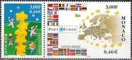 Monaco 2000 Yvert 2248 - 2249 Neuf ** Cote (2015) 3.60 Euro Europa CEPT - Monaco