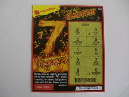 Loterie/ Lottery/ Loteria/ Lotaria Instant Instantânia Raspadinha Fogosos 7 Jogo Nº 239 Portugal - Billets De Loterie