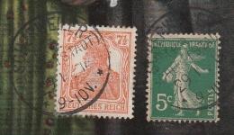 Scherweiler - Affranchissement Mixte Sur Cpa Alsacienne Et Lorraine - (29/1/1918) - Storia Postale