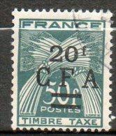 CFA Taxe 1949-50 N°43 - Réunion (1852-1975)