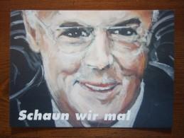 Franz Beckenbauer Football Player Portrait Carte Postale - Soccer