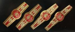 Bague Cigare - H. UPMANN Preciosas 2 Larges Et 2 étroites - Lot N°12 De 4 Bagues - Cigar Band - Bagues De Cigares