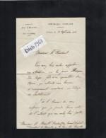 VP1677 - Lettre Du Préfet  à POITIERS  Pour Mr Le Président  A. HERAULT à CHATELLERAULT ( Réponse ) - Autographs