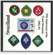 Swaziland 1982 The 75th Anniversary Of Boy Scout Movement M/S. MNH - Swaziland (1968-...)