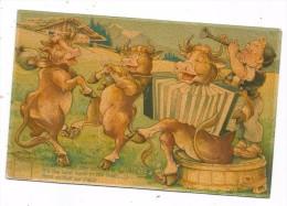 CPA - ROCK AN´ROLL SUR L´ALPE - VACHES DANSANT ET JOUANT DE L´ACCORDEON -PETIT GARCON -N° 126 SERIE MINOUVIS-EDIT. GJG - Cows