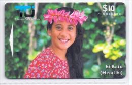 COOK ISLANDS PHONECARD(GPT) TIPANI-10000pcs-1/95-USED(5) - Cook Islands