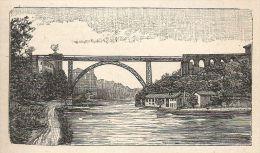 A6002 Adda - Ponte Di Trezzo - Stampa Antica Del 1924 - Incisione - Prints & Engravings