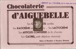 Buvard Chocolaterie D'AIGUEBELLE Donzère - Cacao