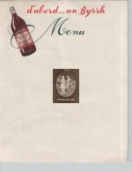Menu BYRRH - Menus