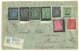 YUGOSLAVIA - Year 1935,registred Cover To Austria - 1931-1941 Kingdom Of Yugoslavia