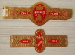 AA39 Bague Bagues Cigare Cigares  Flor Fina Royal Royales  2 Pièce(s) - Bagues De Cigares