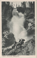 AK Krimml Oberer Krimmler Wasserfall Gemsen Bergziegen Land Salzburg Pinzgau Bei Wald Bramberg Gerlos Neukirchen Stempel - Krimml