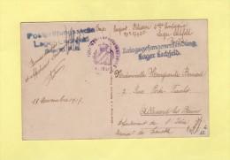 Camp De Prisonniers En Allemagne - Lechfeld - 1917 - Destination Allevard Les Bains - Guerre De 1914-18
