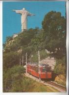 TRAIN - RIO DE JANEIRO ( Brazil  Bresil ) Subida De Trenzinho Ao Corcovado - CPM ( Chemin De Fer Zug Treno Tren Trein) - Trains