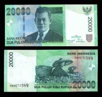 INDONESIA 20000 20,000 RUPIAH 2004/2008 P 143 UNC - Indonésie